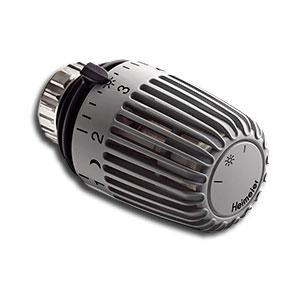 Heimeier Термостатическая головка К, Стандартная, 6-28°C, настройки 1-5, RAL7037 темно-серый, 6000-00.505