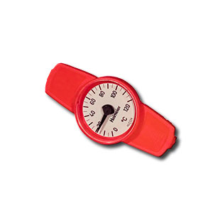 Heimeier Термометр для GLOBO, диапазон 0-120 oС, DN10-32, красный, 0600-00.380