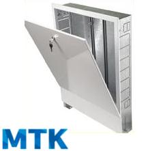 Шкаф распределительный встраиваемый МТК ШРВ-4, для коллектора до 12-ти отводов, 670х125х894