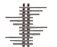 Дизайн- радиатор Зета Плюс-2 590(полимер 281 мм)