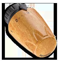 Heimeier Термостатическая головка DX, 6-28°C, настройки 1-5, матовый, грецкий орех, 6700-16.900
