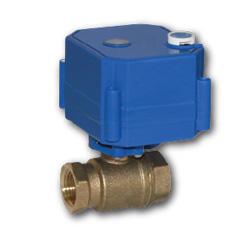 """AquaBast, шаровый кран 1/2"""" с электроприводом, 12V"""