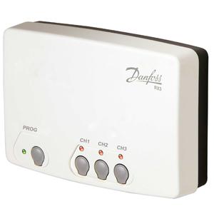 Приемник Danfoss сигнала беспроводных термостатов RX-3, 3 канала, 087N7478