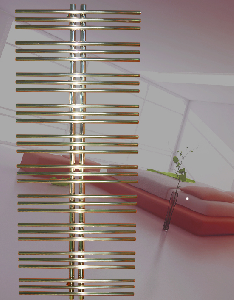 Дизайн-радиатор Зета-С-2 370 (полимер 281 мм)