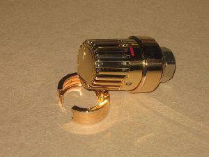 Термостатическая головка Oventrop M30x1,5 арт. 1011468 (золотистая) с жидкостным элементом серия Uni LH