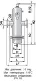 Сепаратор микропузырьков и шлама Spirocombi Hi-flow /разъемный корпус /фланцевое соединение/ сталь 37, артикул HD100F (Spirovent)