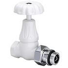 "Прямой клапан SR Rubinetterie для радиатора ""ретро"" , 1/2"" цвет белый, арт. 0338-1500VC0A"