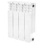 Радиатор биметаллический STOUT Space 350 4 секции, боковое подключение, SRB-0310-035004