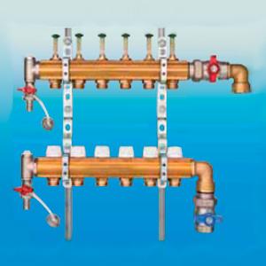 Коллектор для напольного отопления HUMMEL G 1 по EN 1264-4 (вертикальное подключение) 2205014100