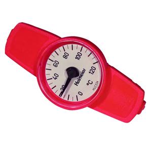 Heimeier Термометр для GLOBO, диапазон 0-120 С, DN10-32, красный, 0600-00.380