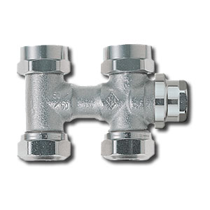 """Heimeier Клапан для нижнего подключения с дренажом VEKOLUX, для двухтрубной системы, G 3/4"""", проходной, никел бронза, 0532-50.000"""
