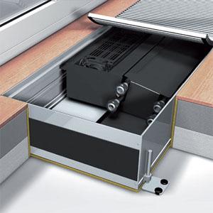 Встраиваемый конвектор Mohlenhoff QSK EC HK 2L 360-140-1400 (без решетки)+TPF