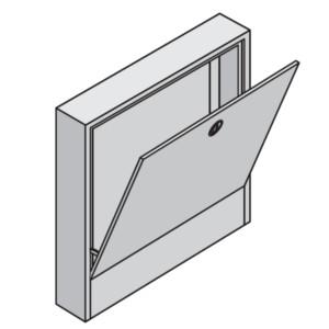 Коллекторный шкаф Uponor накладной L=555 мм T=160 мм, арт. 1046996
