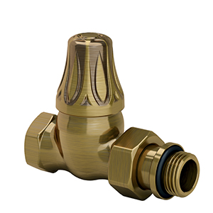 "Прямой клапан SR Rubinetterie для радиатора ""ретро"" , 1/2"", цвет бронза, арт. 0342-1500Z000"