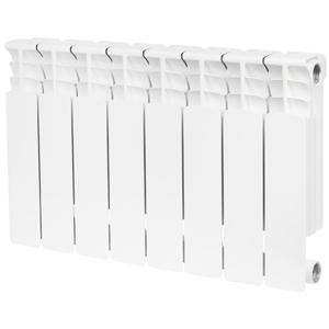 Радиатор биметаллический STOUT Space 350 8 секции, боковое подключение, SRB-0310-035008