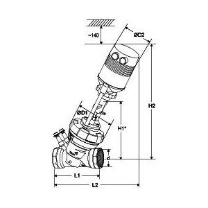 Tour & Andersson Комбинированный клапан TA-FUS1ON-C, TA-MC100, 24 В, DN 32, PN 16, 22106041032