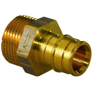 "Штуцер Uponor Q&E с наружной резьбой DR-латунь 20-1/2"" НР, арт. 1033437"