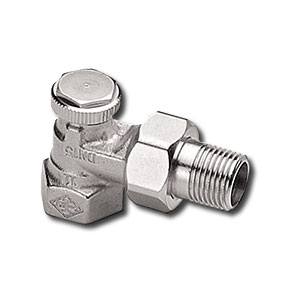 """Heimeier Радиаторный запорно-регулирующий клапан REGUTEC,  DN15(1/2""""), угловой, никелированная бронза, 0355-02.000"""