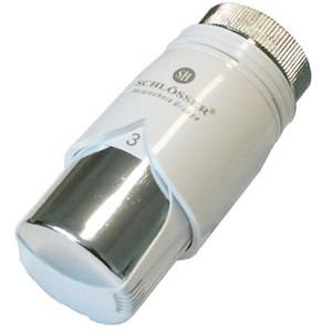 Термостатическая головка SCHLOSSER SH Diamant Plus Белый-Хром, арт. 600100011